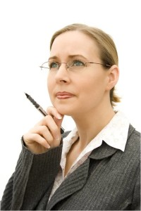 Woman thinking about changes we can make in 2014