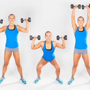 from amy's exercise tool box dumbbell thrusters  amy